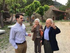Dinar al Montseny, amb el President Pujol i la Sra. Marta Ferrusola.